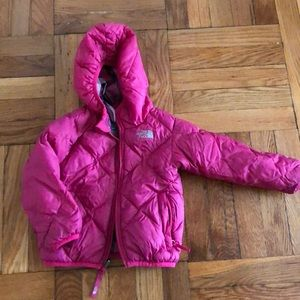 Toddler Girl reversible NORTH FACE down jacket